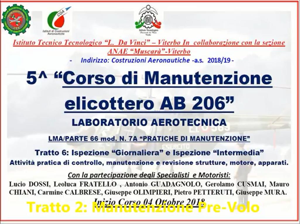 5° Corso Manutenzione AB 206 presso ITT