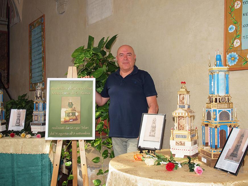 """Macchine di Santa Rosa. Espone il socio """"Muscarà"""" Giorgio Telari"""